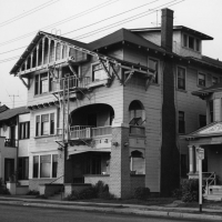 The Girton Apartments on Exposition Boulevard in 1963.