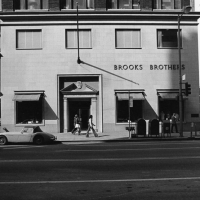 Brooks Brothers store at the corner of 7th Street and Olive. 1975