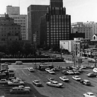 The Richfield Building at 555 South Flower Street, in 1964.