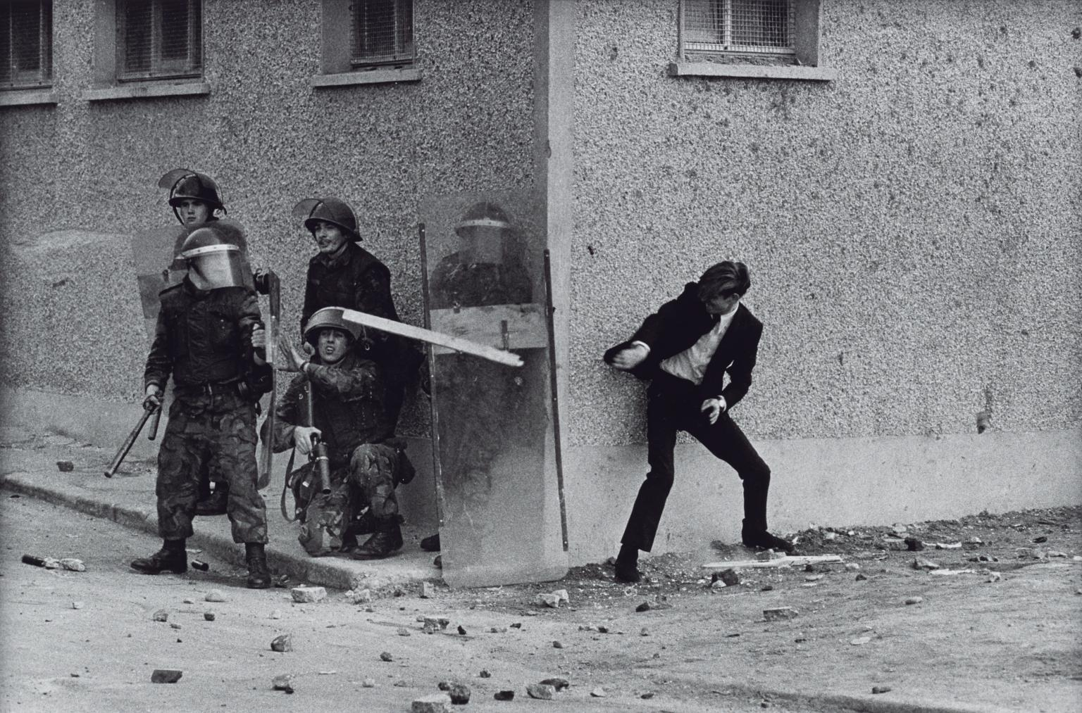 The Bogside, Londonderry, Northern Ireland 1971, printed 2013 by Don McCullin born 1935