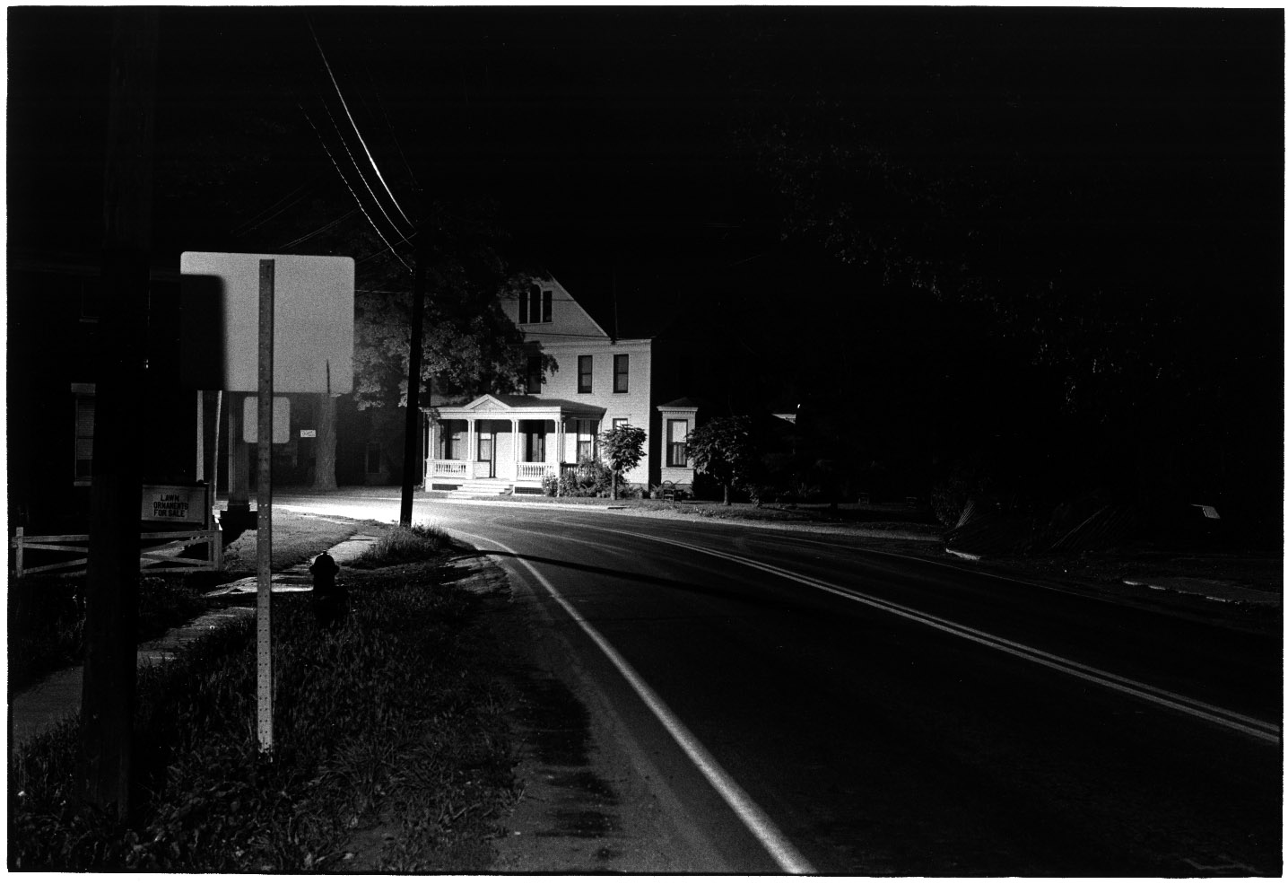 WILLIAM GEDNEY HOUSES AT NIGHT 1960 1973