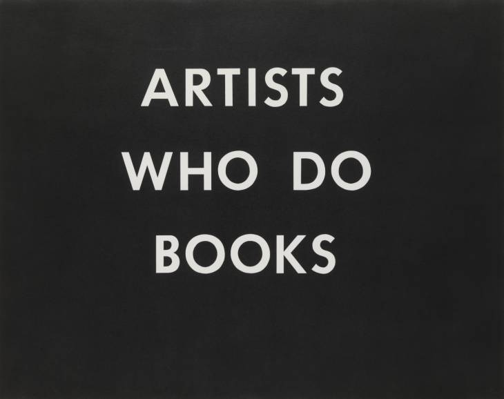 ARTISTS WHO DO BOOKS 1976 by Edward Ruscha born 1937