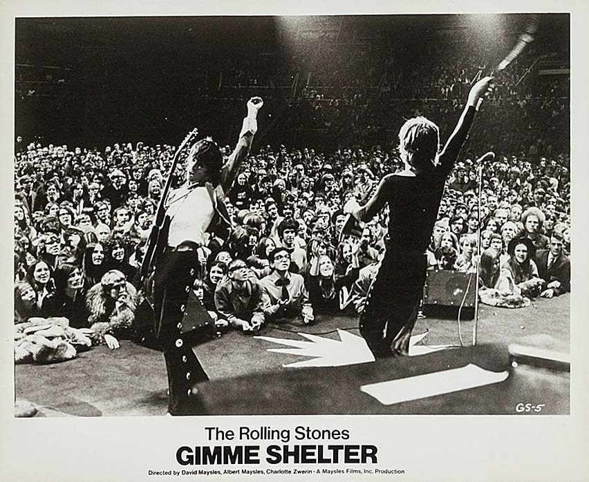 The Rolling Stones Gimme Shelter Lobby Cards 1970