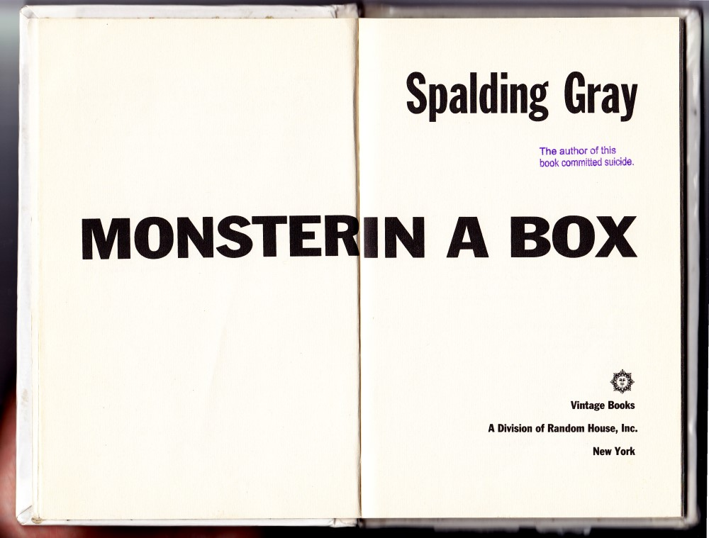 SpaldingGrayMonsterinabox (Custom)