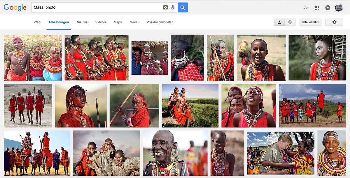 Masai as on Google web