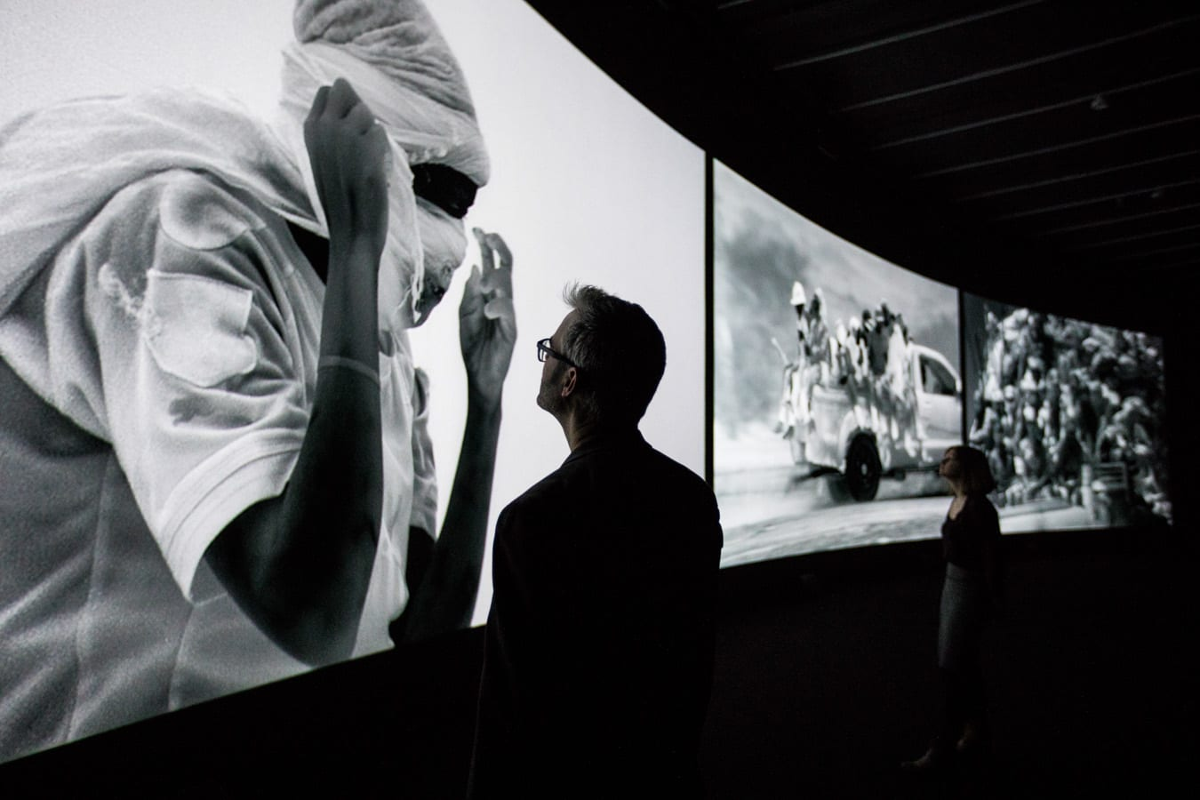 1. Richard Mosse Incoming, The Curve, Barbican Centre, Tristan Fewings (6)
